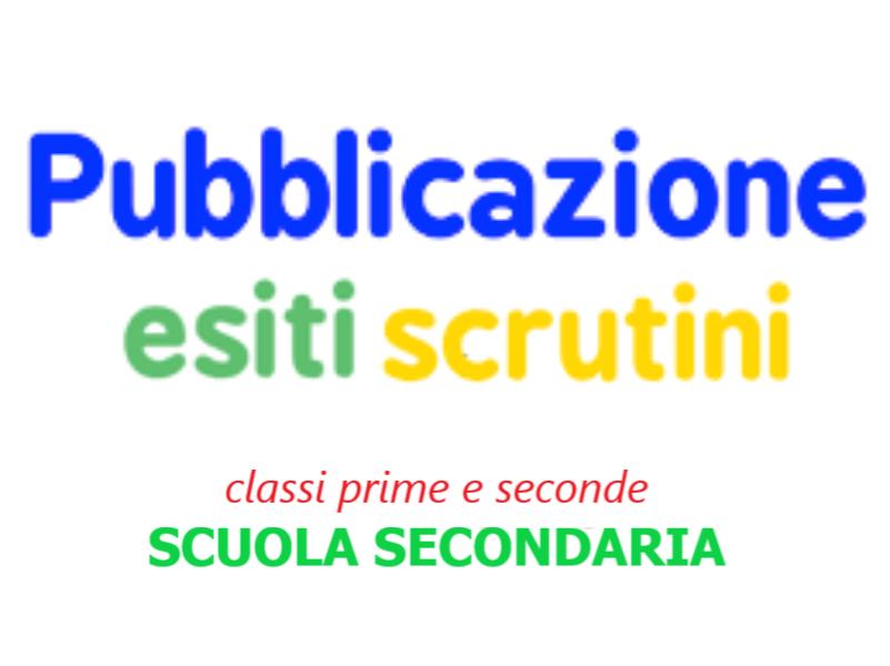 Pubblicazione esiti scrutini classi I^ e II^ Sc...