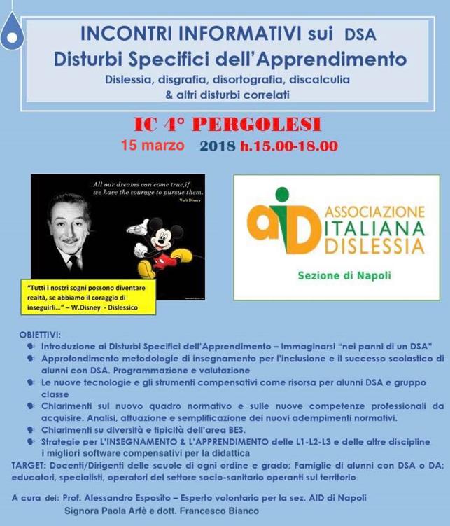 Locandina Seminario D.S.A. 15 marzo 2018